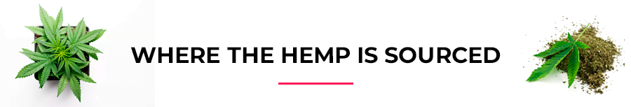 Where the hemp is sourced