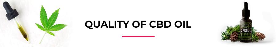 Quality of CBD oil
