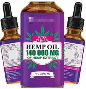 Hemp Oil. 140 000 mg of hemp extract bottle