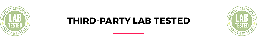 Third-party lab tested